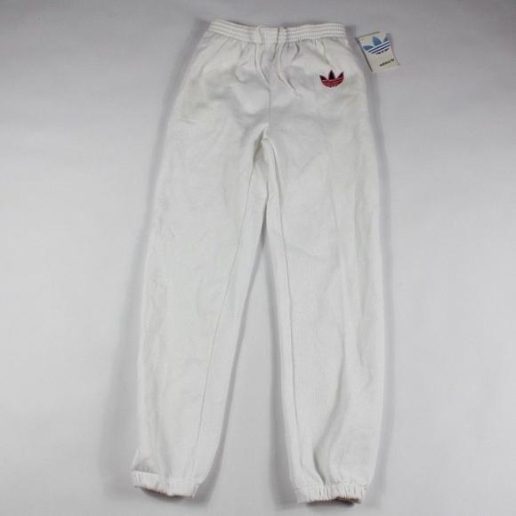 cd372178a4f4 Vintage Adidas Trefoil Joggers Jogger Pants White